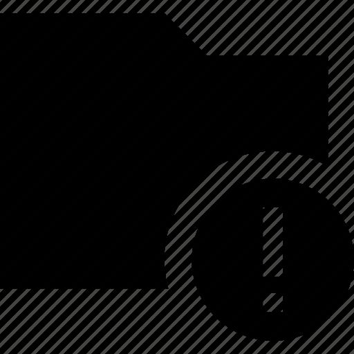 Error, folder, data, documents, file icon - Download on Iconfinder