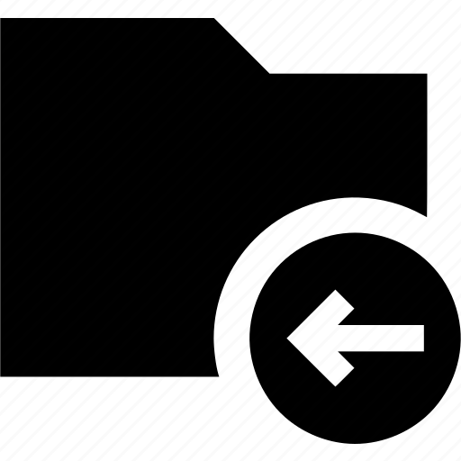 arrow, back, data, folder, left icon