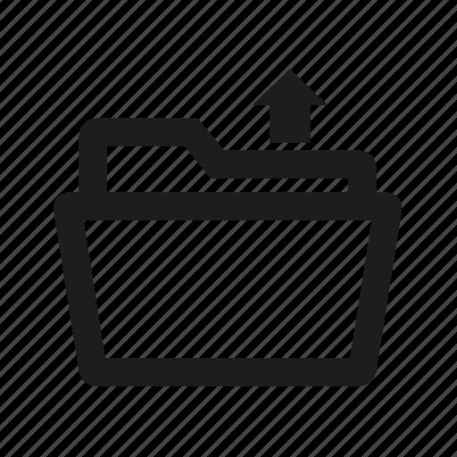 fill, folder, upload icon