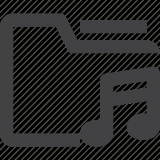 container, file, folder, music icon