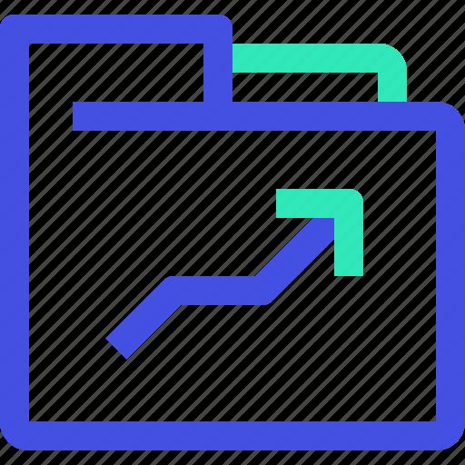 archive, arrow, data, file, folder, up icon