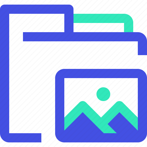 archive, data, file, folder, images icon