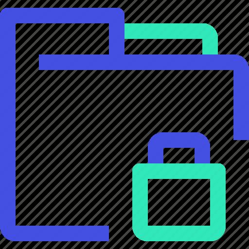 archive, data, file, folder, lock icon