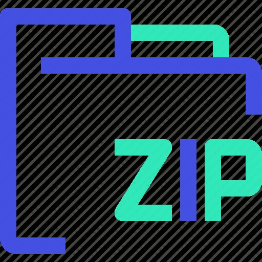 archive, data, file, folder, zip icon