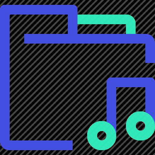 archive, data, file, folder, music icon
