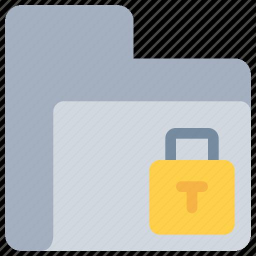 data, document, folder, padlock, secure, security icon