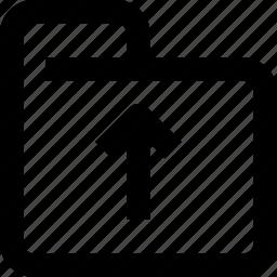 arrow, document, folder, up, upload icon
