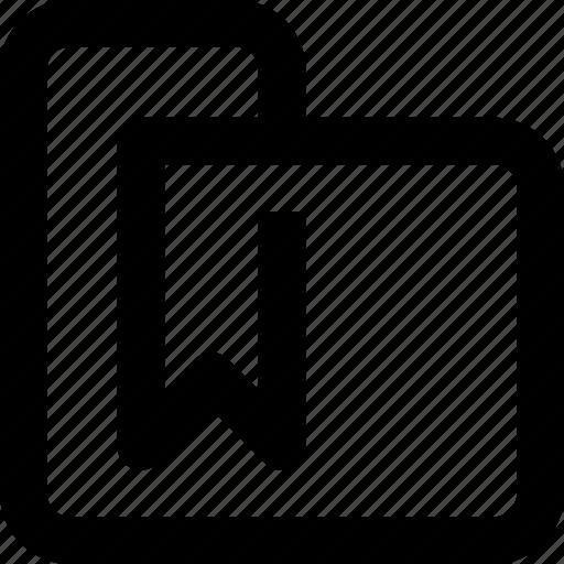 bookmark, business, document, folder, management icon