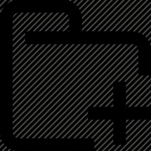 add, document, filr, folder, management icon