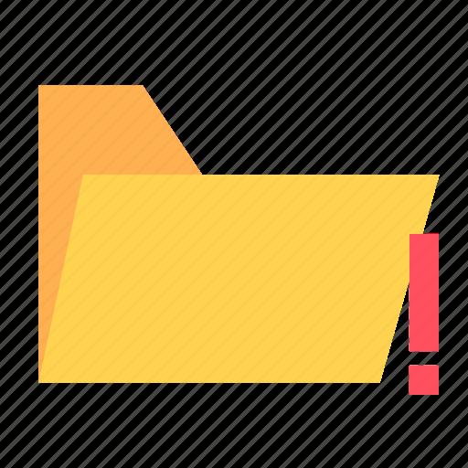 folder, ui, ux, warning icon