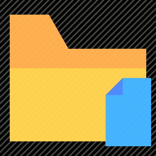 document, file, folder, ui, ux icon