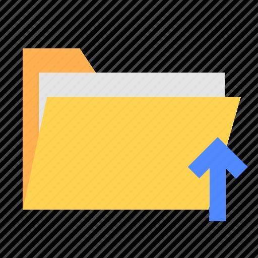 folder, ui, upload, ux icon
