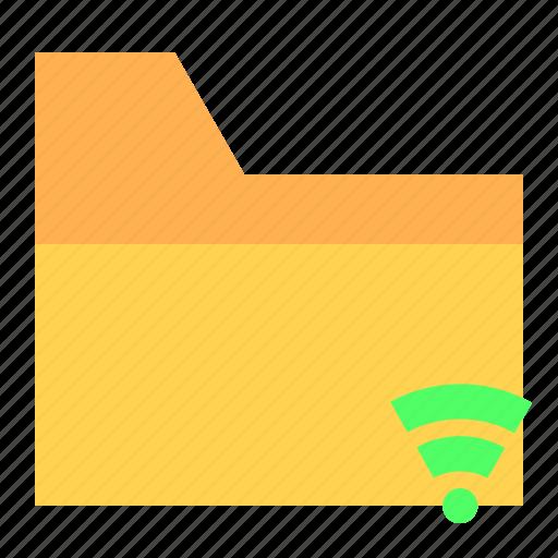 folder, ui, ux, wireless icon