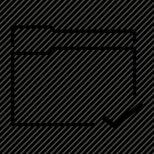 check, checked, data, file, folder icon