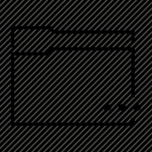 data, document, dots, file, folder icon