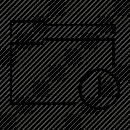 data, document, exclamation, folder, important icon