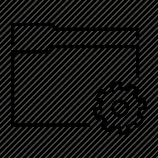 data, folder, gear, preferences, settings icon