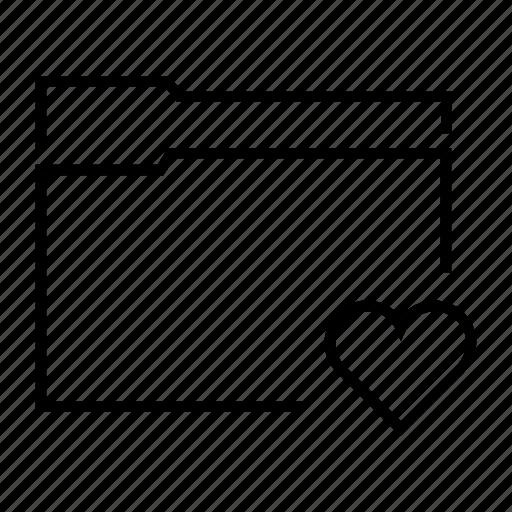 data, favourite, file, folder, heart icon