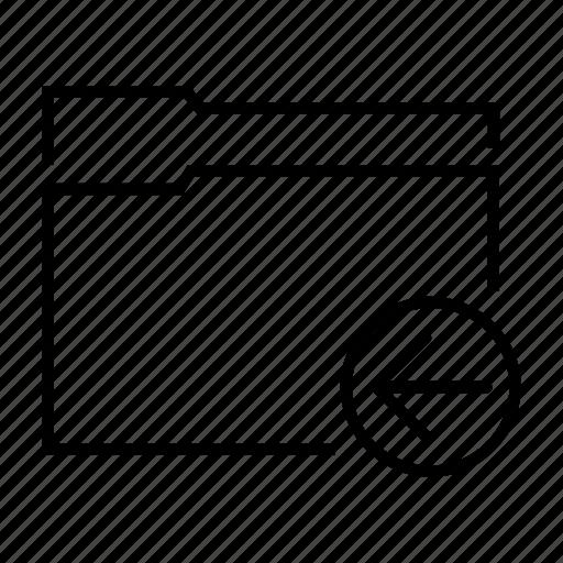 arrow, data, document, file, folder icon