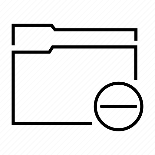 data, delete, file, folder, minus icon