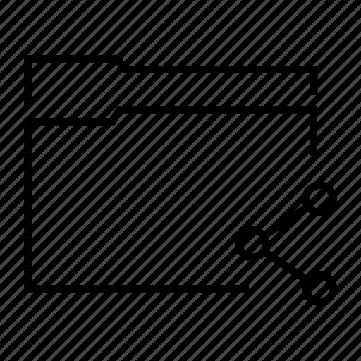 folder, share, shared data, shared file, shared folder icon