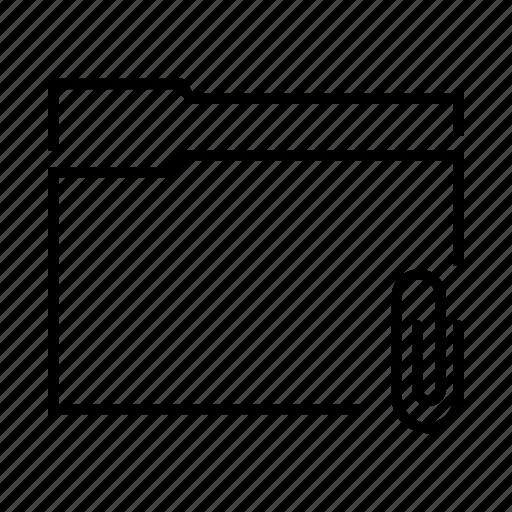 attach, attachment, file, folder, paper clip icon