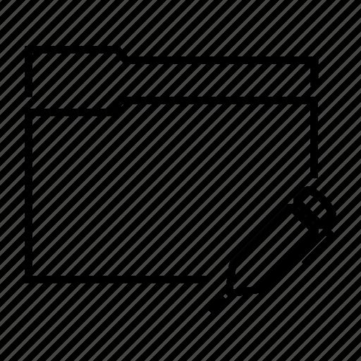 data, document, file, folder, pen icon