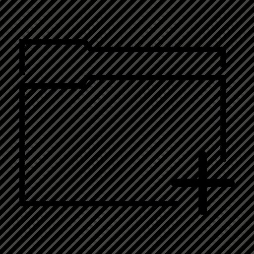 add, add document, add folder, file, folder icon