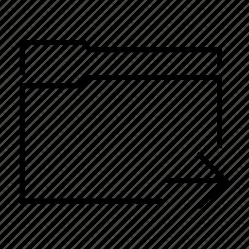 arrow, document, file, folder, send icon