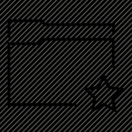 data, document, favourite, folder, star icon