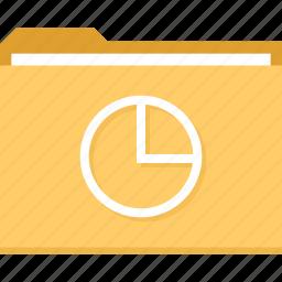 archive, chart, file, folder, graph, pie icon