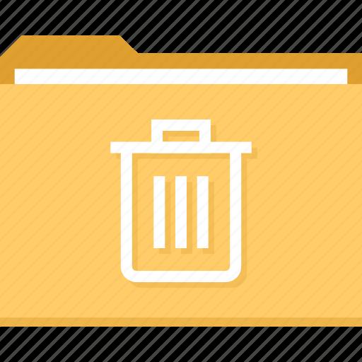 archive, bin, delete, file, folder, trashcan icon