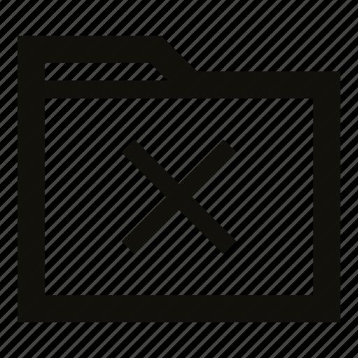 clear, clear folder, delete, delete folder, folder, remove, remove folder icon