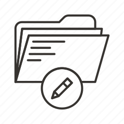 directory, document, documents, file, files, folder, pencil icon
