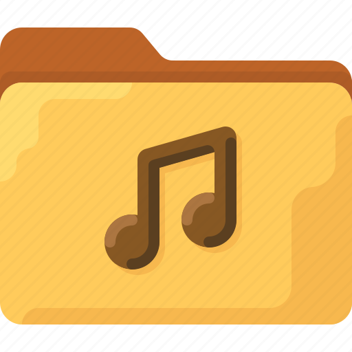 audio, directory, folder, music, office, system icon