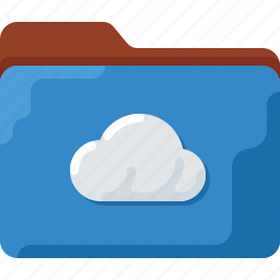 cloud, directory, folder, office, storage, system icon