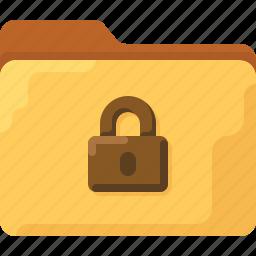 close, directory, folder, lock, office, secrete, system icon