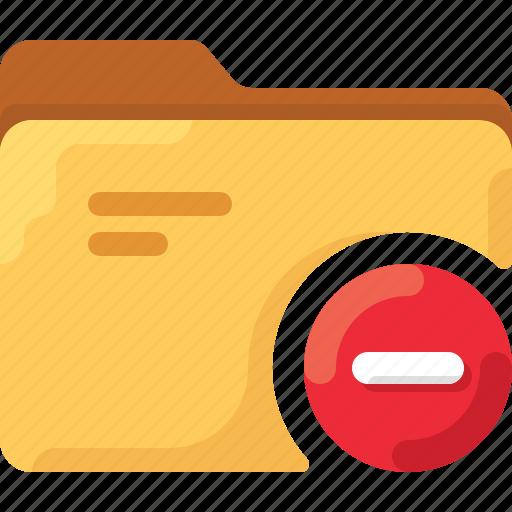 delete, directory, folder, minius, minus, office, system icon