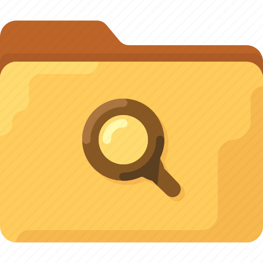 directory, folder, magnifier, office, search, system icon