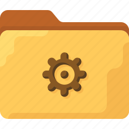 directory, folder, gear, office, settings, system icon