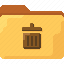 delete, directory, folder, office, system, trash icon