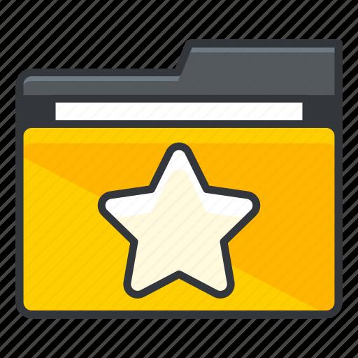 bookmark, favourite, folder, folders, star icon