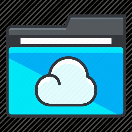 cloud, file, folder, folders, storage icon