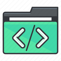 code, coding, folder, folders, programming icon