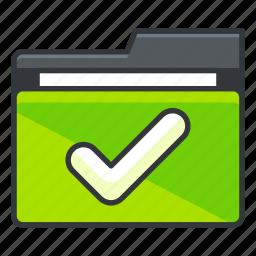 approve, checkmark, confirm, folder, folders icon