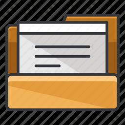 document, file, folder, folders, paper icon