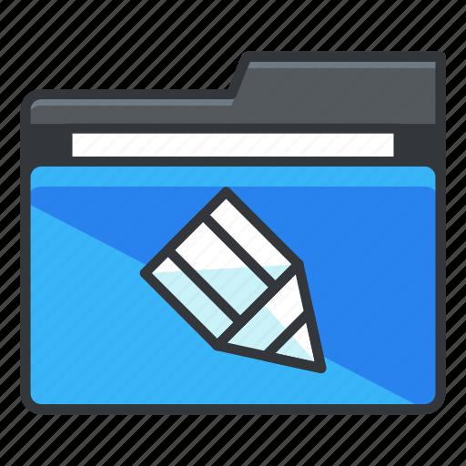 draw, edit, folder, folders, pencil icon