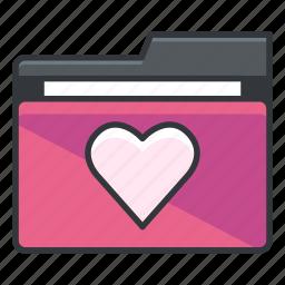 favorite, favourite, folder, folders, heart icon