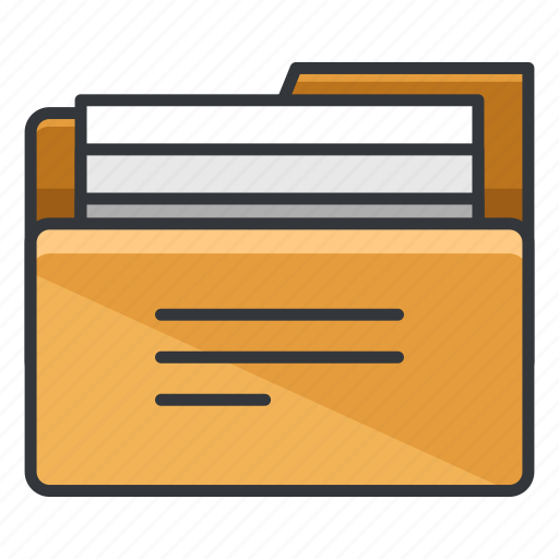 document, file, filled, folder, folders, storage icon