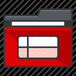 checklist, excel, file, folder, folders, list icon